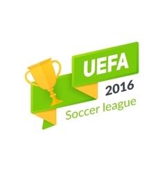 UEFA Euro 2016 badge isolated on white vector image