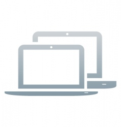 Laptops icon vector