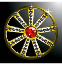 Expensive gold diamond wheel p2 vector