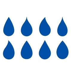 Set of drop silhouettes vector