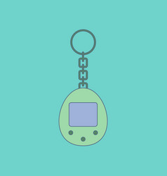 flat icon on background kids toy retro electric vector image