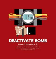 Deactivate Bomb Graphic vector image