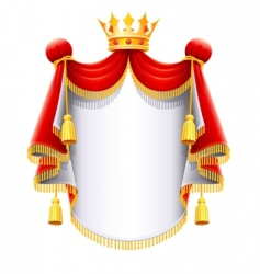 royal majestic mantle with vector image