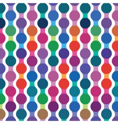 Bright seamless pattern from wavy lines vector