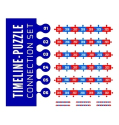 Timeline puzzle connection set vector image