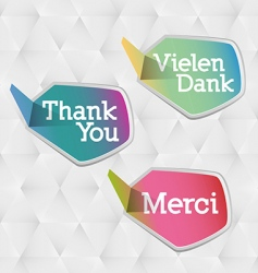 Thank you logo vector
