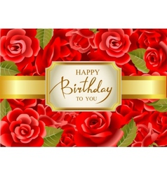 Birthday greeting card in vector
