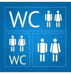 Wc icon set vector