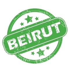 Beirut green stamp vector