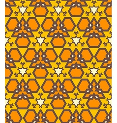 Orange brown yellow color abstract geometric vector