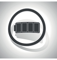 Curved full battery sign icon vector