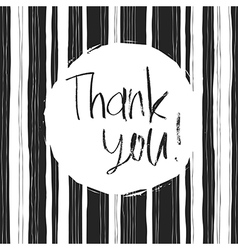 Monochrome thank you card vector