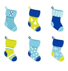 retro christmas socks vector image