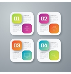 Template rectangles design on the grey background vector