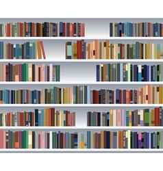 Modern bookshelf vector