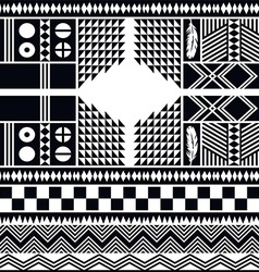 Native pattern tribe culture vector