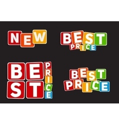 New best price sign template vector