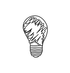 Abstract energy bulb power vector