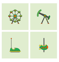 Amusement park stock vector