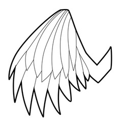 Angelic wing icon outline style vector