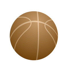 Basketball orange icon vector