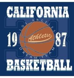 Basketball t-shirt graphic design vector image