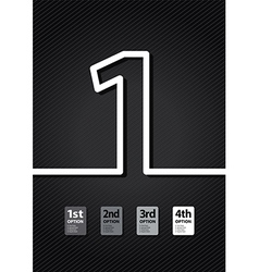 black number vector image