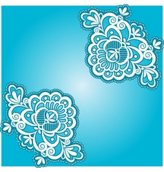 blue floral napkin vector image vector image