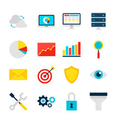 Business analytics objects vector
