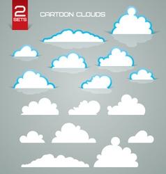 cartoon clouds vector image vector image