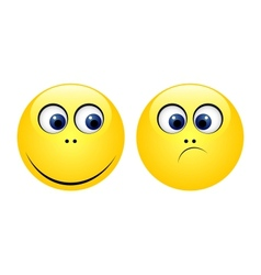 Characters of yellow emoticons vector image vector image