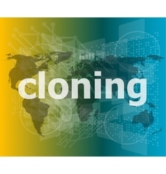 Cloning word backgrounds touch screen with vector