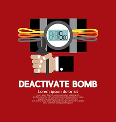 Deactivate Bomb Graphic vector image