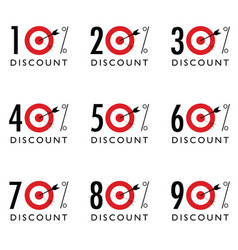 discount sale with target vector image vector image