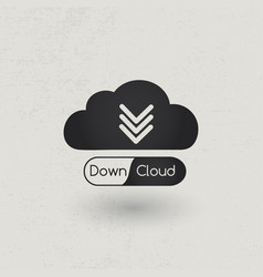 download cloud concept vector image