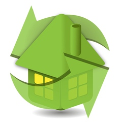 Eco lodge symbol vector