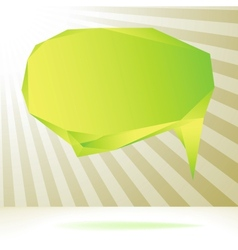 Glossy green origami speech bubble EPS8 vector image vector image
