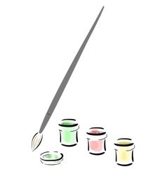 Gouache paint vector