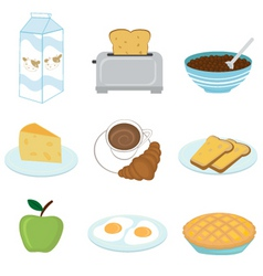 healthy breakfast set vector image