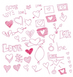 heart sketches vector image