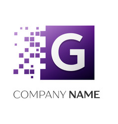 letter g logo symbol in the colorful square with vector image