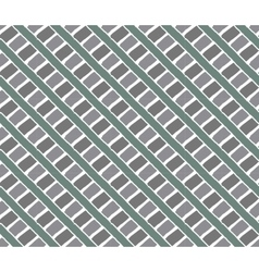 Line vintage pattern eucalyptus color vector