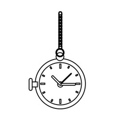 Old clock icon vector