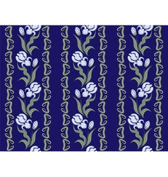 Ornaments of blue irises vector