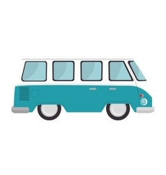 retro van vehicle vector image