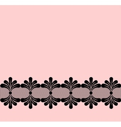 Seamless black lacy border vector