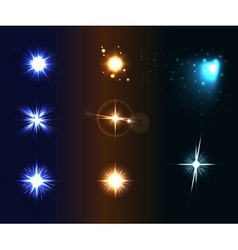 Shine disco color stars 1 vector