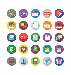 Shopping and commerce icons 7 vector