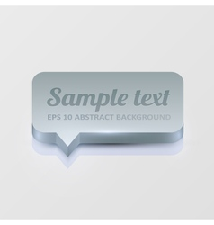 Silver speech bubble vector image vector image