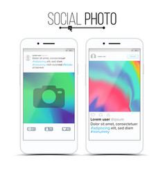 social network photo frame modern vector image